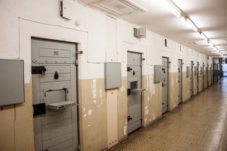 prison system: Cells at Berlin-Hohenschonhausen Memorial, former prison of state police Stasi during communist era.