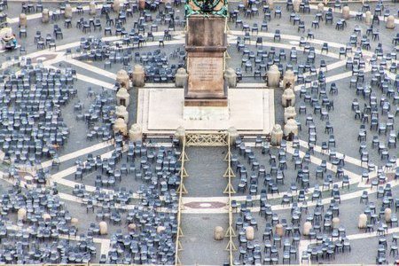 Aerial view of St.Peters Square, Rome, Vatican Redakční
