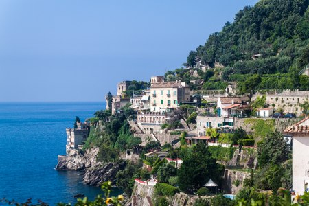 View of a village at Amalfi coast, Italy photo