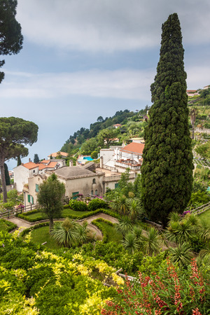 Garden of Villa Rufolo in Ravello village, Amalfi coast, Italy photo