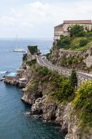 View of a village Atrani at Amalfi coast, Italy photo