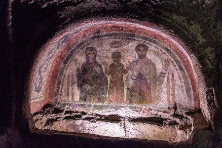 catacomb: Catacombs of San Gennaro in Naples, Italy