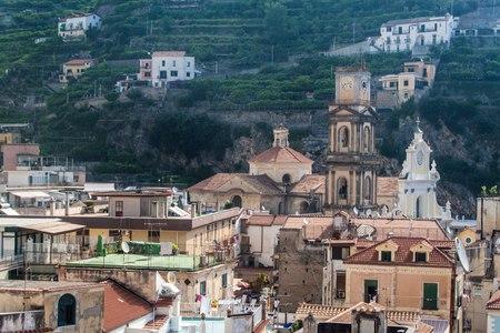 View of a village Minori at Amalfi coast, Italy photo