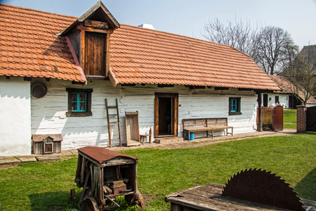 open air: Traditional village house of 19th century in Open Air Museum in Prerov, Czech Republic Editorial