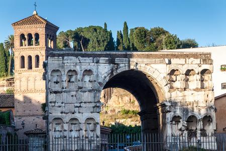 janus: The Arch of Janus in Rome, Italy