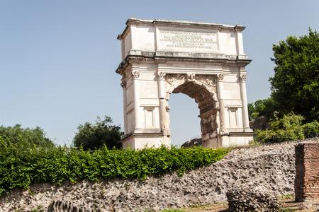The Arch of Titus (Arco di Tito) in Roman Forum, Rome, Italy photo