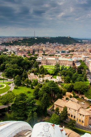Aerial view of Vatican gardens photo