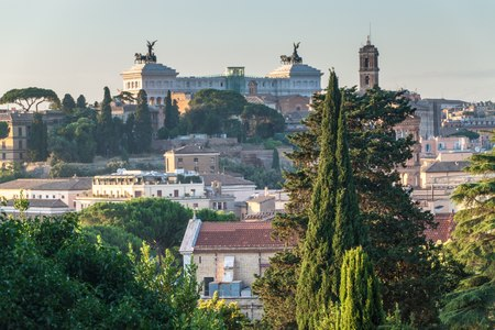 rome italy: Aerial view of Rome, Italy Stock Photo