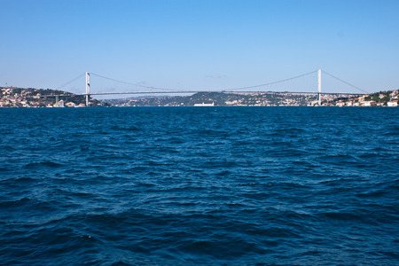 bosporus: Bosporus bridge in Istanbul, Turkey