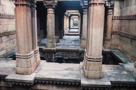 step well: Adalaj Step well in Ahmedabad, India