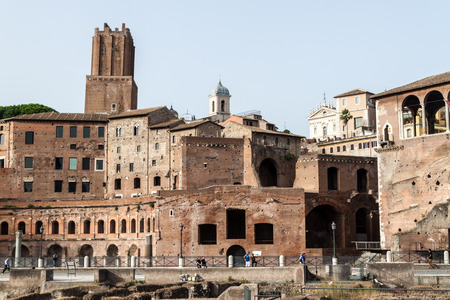 rome italy: View of ancient buildings in Rome, Italy Stock Photo