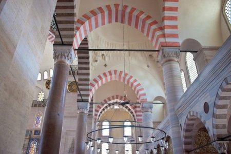 Interior of Suleymaniye Mosque, Istanbul, Turkey