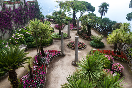 Garden of Villa Rufolo in Ravello village, Amalfi coast, Italy