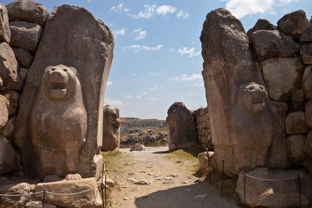 Ruins of old Hittite capital Hattusa, Turkey Foto de archivo