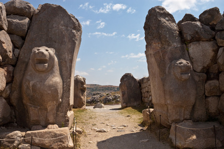 Ruins of old Hittite capital Hattusa, Turkey Banco de Imagens