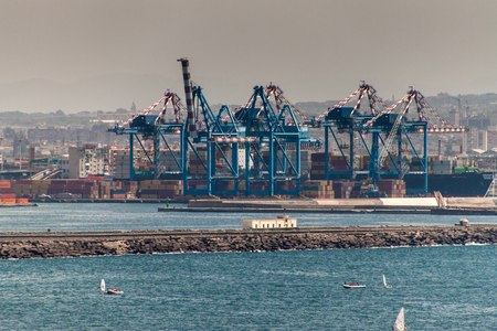 disembark: Harbor in Naples, Italy