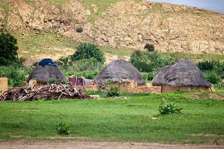 thar: Village in Thar desert in India
