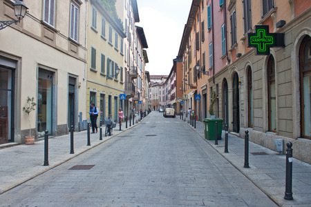 laterns: BERGAMO - JULY 20: View of a street on July 20, 2010 at Bergamo, Italy. Bergamo is a town in Lombardy, about 40 km northeast of Milan. It is home to over 120,000 inhabitants.