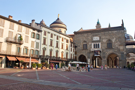 laterns: BERGAMO, ITALY - JULY 20: People visit Old Town on July 20, 2010 in Bergamo, Italy. In 2011 841,624 tourists visited Bergamo Province, among them 324,685 foreigners.