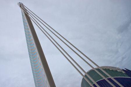 felix: VALENCIA, SPAIN - JULY 23: Detail of a building at City of Arts and Sciences in Valencia on July 23, 2010 in Valencia, Spain. Designed by Santiago Calatrava and Felix Candela,