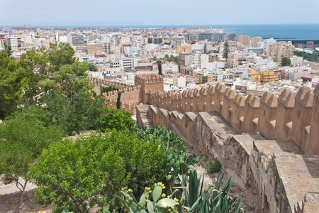 Old fortress Alcazaba in Almeria, Spain 版權商用圖片