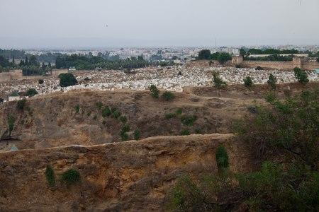 fez: Cementerio en Fez, Marruecos Foto de archivo
