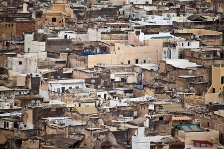 fes: Aerial view of Fes, Morocco Stock Photo