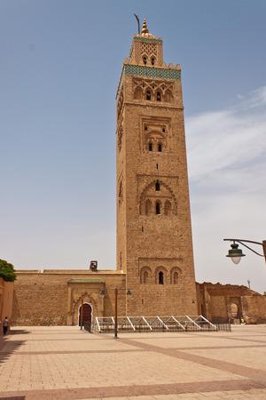 Kotubia minaret in Marrakesh, Morocco photo