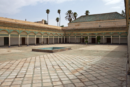 Bahia Palace in Marrakech, Marokko Redactioneel