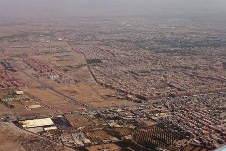 marrakesh: Aerial view of Marrakesh, Morocco
