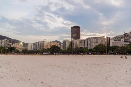 rio: RIO DE JANEIRO, BRAZIL - JANUARY 27, 2015: Skyline of Botafogo neighborhood Rio de Janeiro.