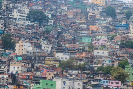 shantytown: Favela Rocinha in Rio de Janeiro, Brazil.