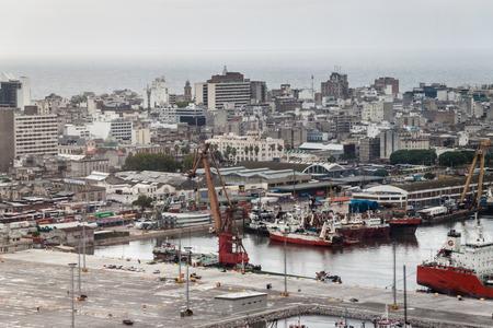 Veduta aerea di Montevideo, Uruguay Archivio Fotografico