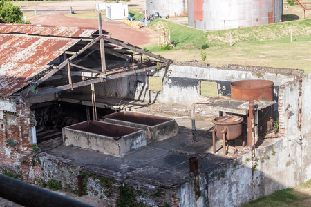 past production: FRAY BENTOS, URUGUAY - FEB 18, 2015: Former meat factory, now Museum of Industrial Revolution.