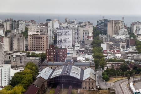 montevideo: Aerial view of Montevideo, Uruguay Stock Photo