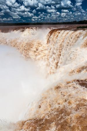 diablo: Garganta del Diablo (Devils Throat) at Iguacu (Iguazu) falls on a border of Brazil and Argentina
