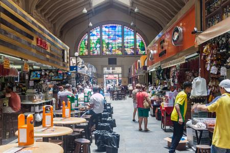 municipal: SAO PAULO, BRAZIL - FEBRUARY 3, 2015: View of Mercado Municipal market in Sao Paulo, Brazil