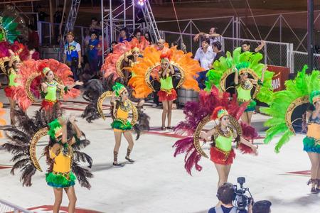 ENCARNACION, PARAGUAY - FEB 8, 2015: Participants of a traditional carnival in Encarnacion, Paraguay. Redakční