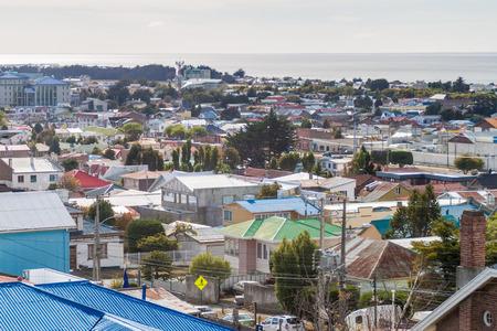 punta arenas: Aerial view of Punta Arenas, Chile