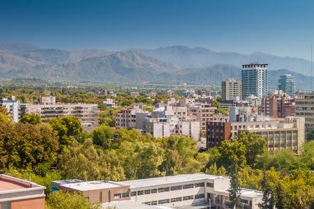 Aerial view of Mendoza, Argentina Stock Photo
