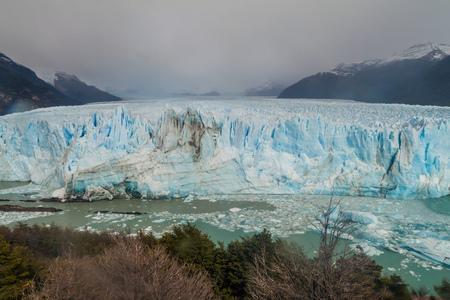 disrupt: Perito Moreno glacier, Los Glaciares National Park, Patagonia, Argentina Stock Photo