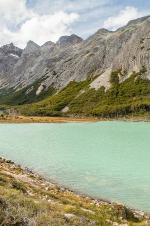 tierra: Laguna Esmeralda lake in Tierra del Fuego, Argentina Stock Photo