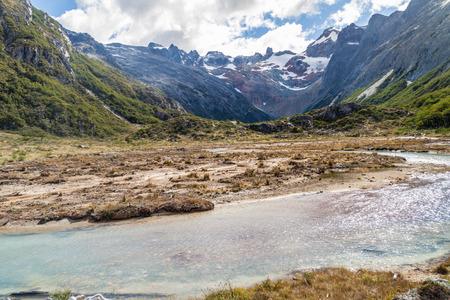 tierra del fuego: Creek in Tierra del Fuego, Argentina Stock Photo