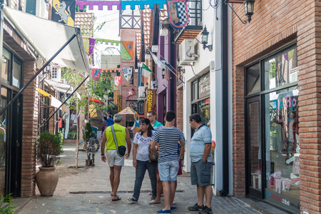 argentina dance: VILLA GENERAL BELGRANO, ARGENTINA - APR 3, 2015: Alley in Villa General Belgrano, Argentina. Village now serves as a Germany styled tourist sttraction.