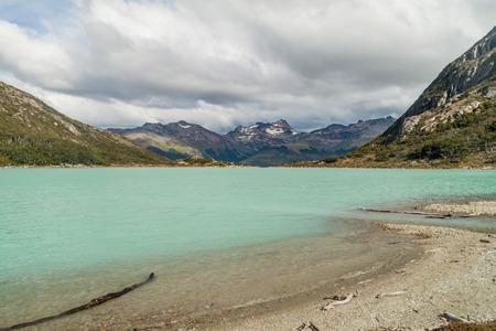 tierra del fuego: Laguna Esmeralda lake in Tierra del Fuego, Argentina Stock Photo
