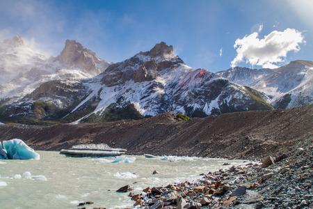 lake argentina: Laguna de Torre lake, National Park Los Glaciares, Patagonia, Argentina