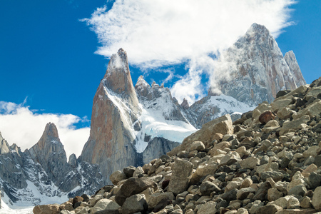 roy: National Park Los Glaciares, Argentina. Fitz Roy mountain in background. Stock Photo