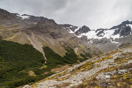 tierra del fuego: Martial mountain near Ushuaia, Tierra del Fuego, Argentina