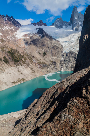 lake argentina: Laguna Sucia lake, National Park Los Glaciares, Patagonia, Argentina