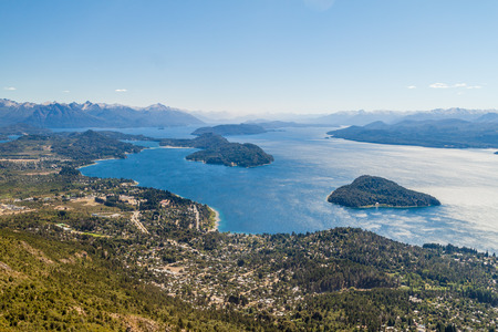 huapi: Aerial view of Nahuel Huapi lake near Bariloche, Argentina Stock Photo